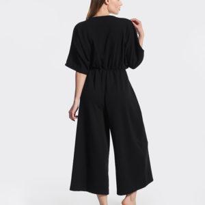 ολόσωμη μαύρη φόρμα πίσω