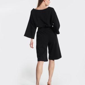 Μπλουζάκι μαύρο oversized πίσω μέρος