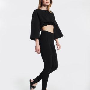 Μπλουζάκι μαύρο oversized πλάι
