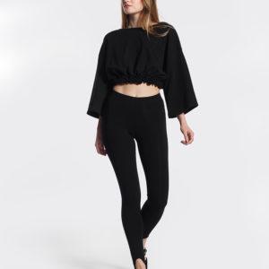 Μπλουζάκι μαύρο oversized