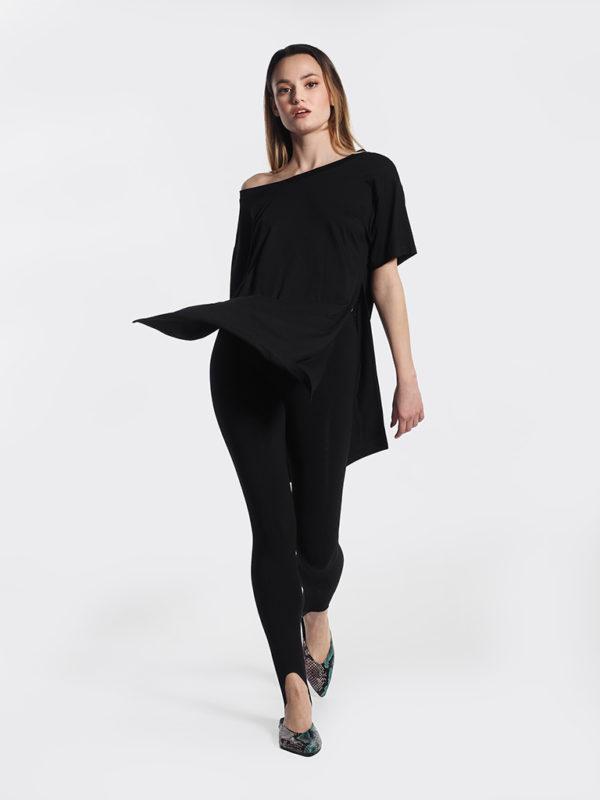 Μπλούζα μαύρη με άνοιγμα στο πλάι