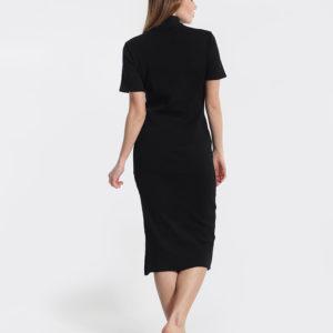 Φόρεμα μαύρο, κοντομάνικο, ζιβάγκο