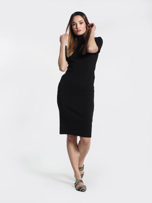 Φόρεμα μαύρο midi