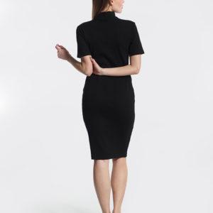 Φόρεμα μαύρο midi πίσω μέρος