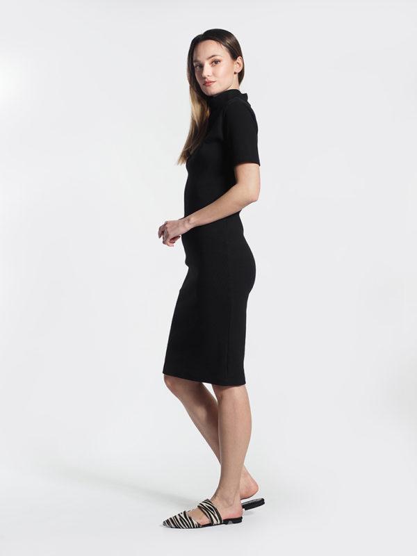 Φόρεμα μαύρο midi καλοκαιρινό