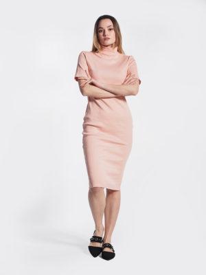 Φόρεμα ροδακινί μπροστινή όψη