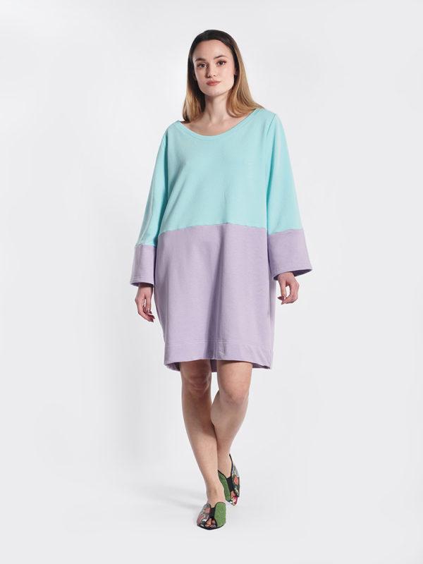 Φόρεμα δίχρωμο