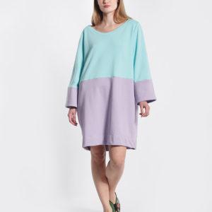 Φόρεμα δίχρωμο μπροστινή όψη