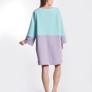 Φόρεμα δίχρωμο πίσω όψη