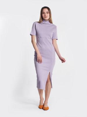 Φόρεμα λιλά μπροστινή όψη